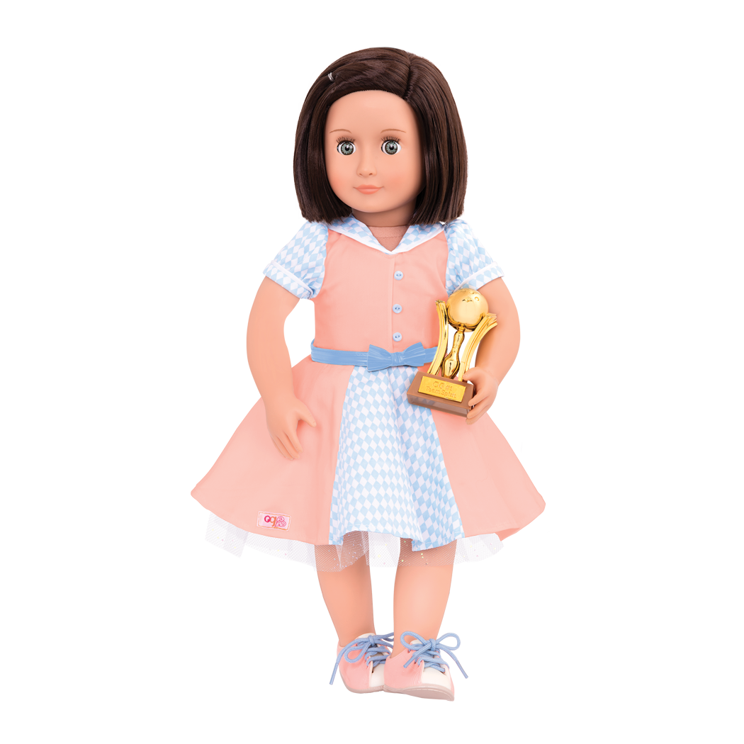 Bowling Belle retro outfit Everly with trophy