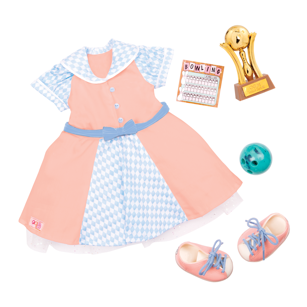 Bowling Belle deluxe retro outfit all components
