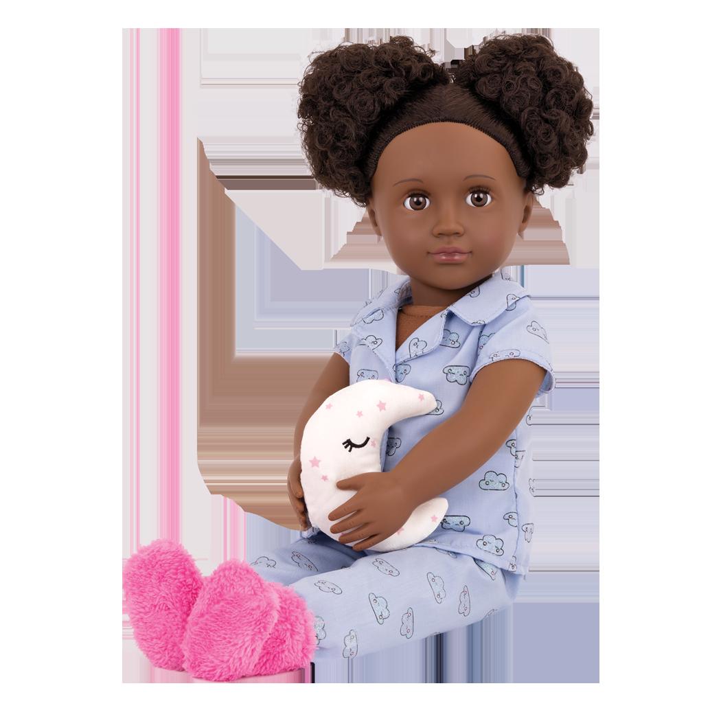Gloria 18-inch Sleepover Doll sitting down