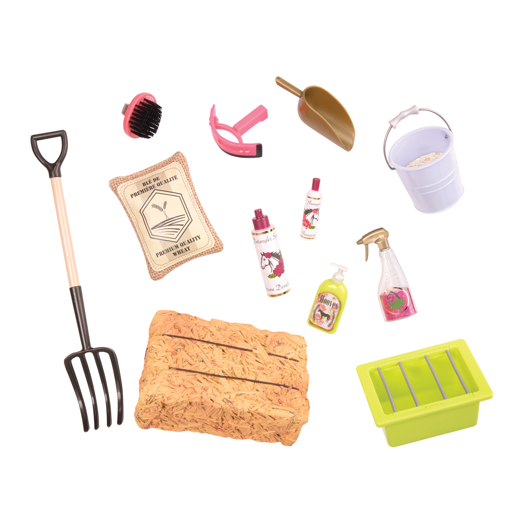 Hay and Neigh Horse care Set all components