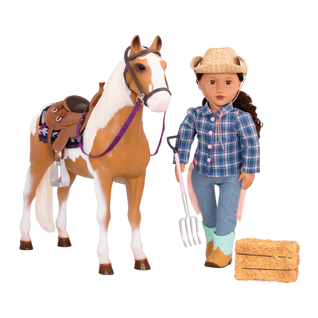 Stable Horse with Melina doll and haybale