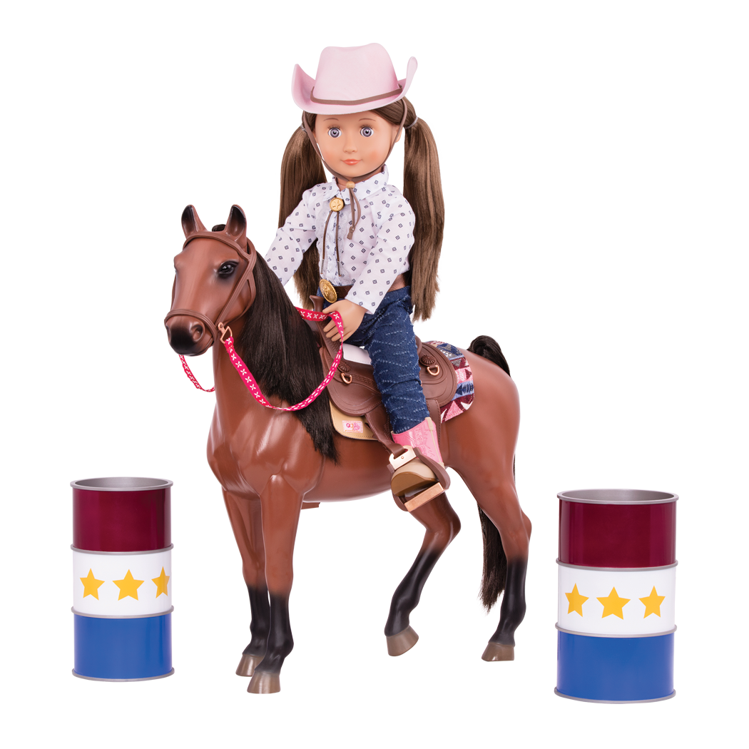 Barrel Racing Set Equestrian 18 Inch Doll Toys Our Generation