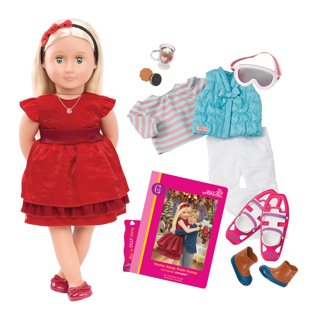 Ginger Deluxe 18-inch Doll with Storybook
