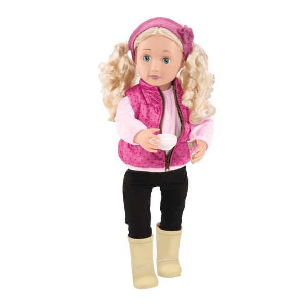Audrey Ann wearing winter outfit