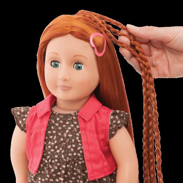BD31054 Peyton Hairplay Doll hair extension detail01