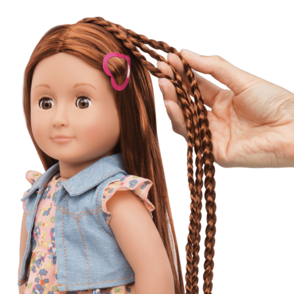 BD31058 Paisely Hairplay Doll hair extension detail01