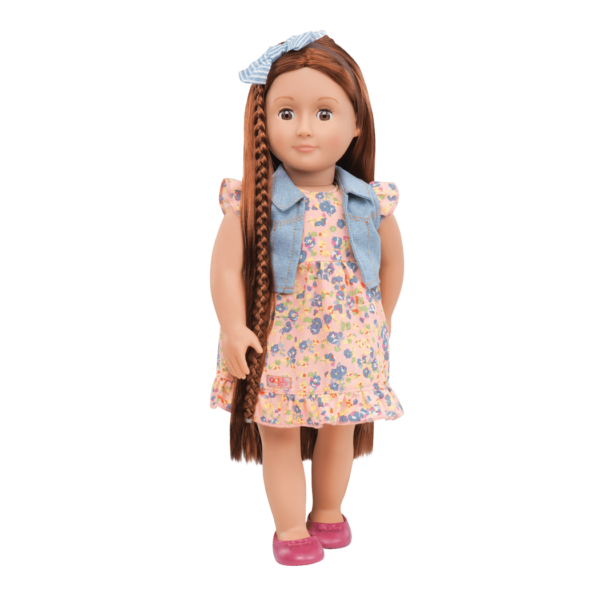 BD31058 Paisely Hairplay Doll standing