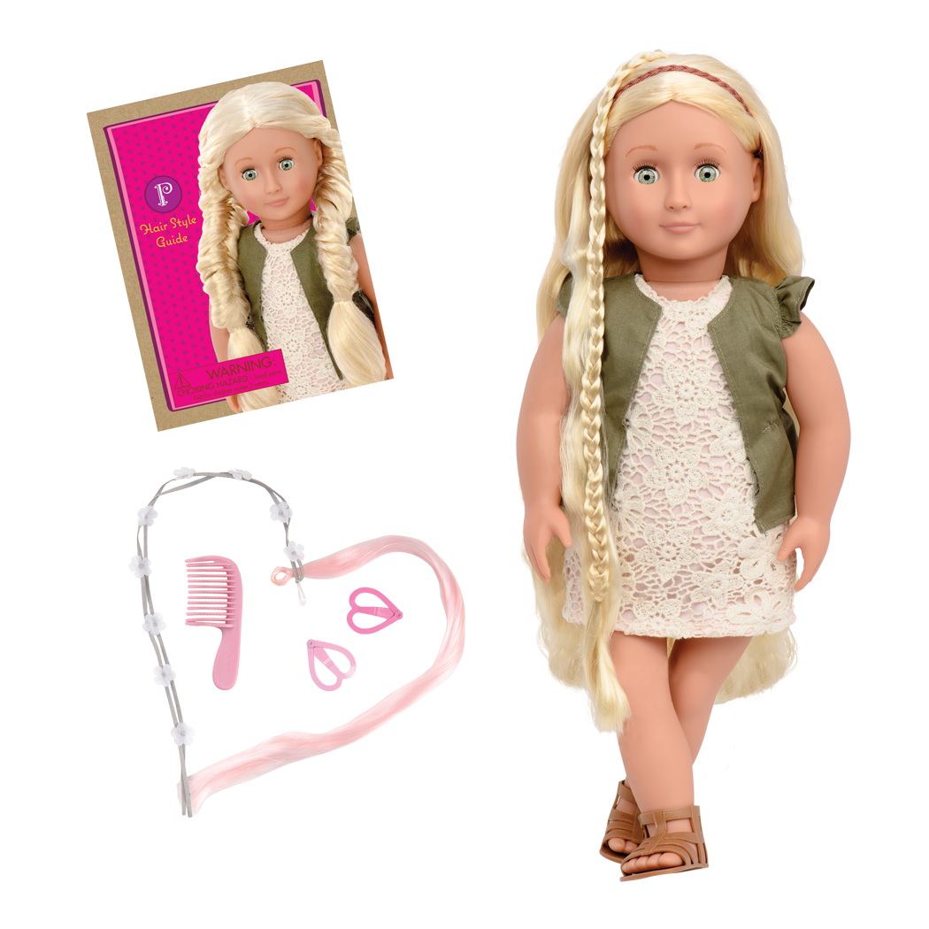 Pia 18-inch Hairplay Doll with Braids