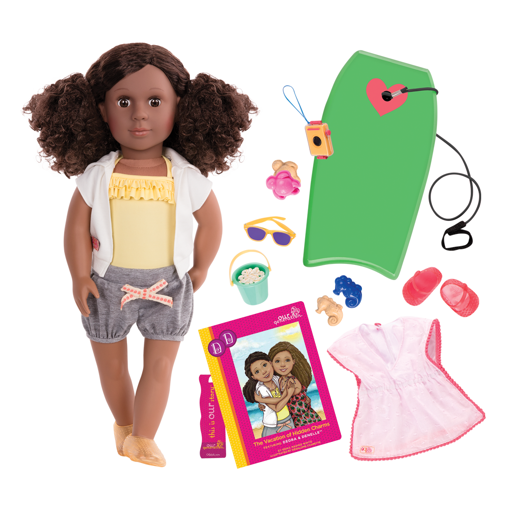 Dedra 18-inch Deluxe Doll with Beach Outfit and Storybook