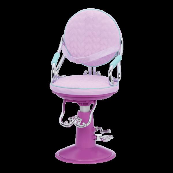 Sitting Pretty Salon Chair Lilac Hearts chair