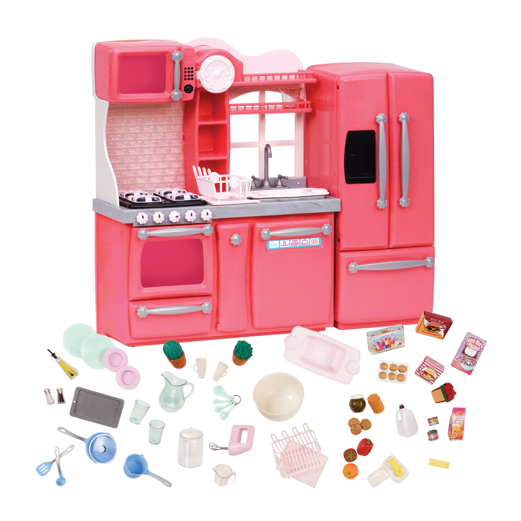 Gourmet Kitchen Set Pink all components