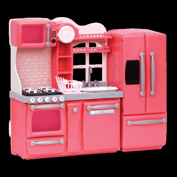 Gourmet Kitchen Set Pink appliances