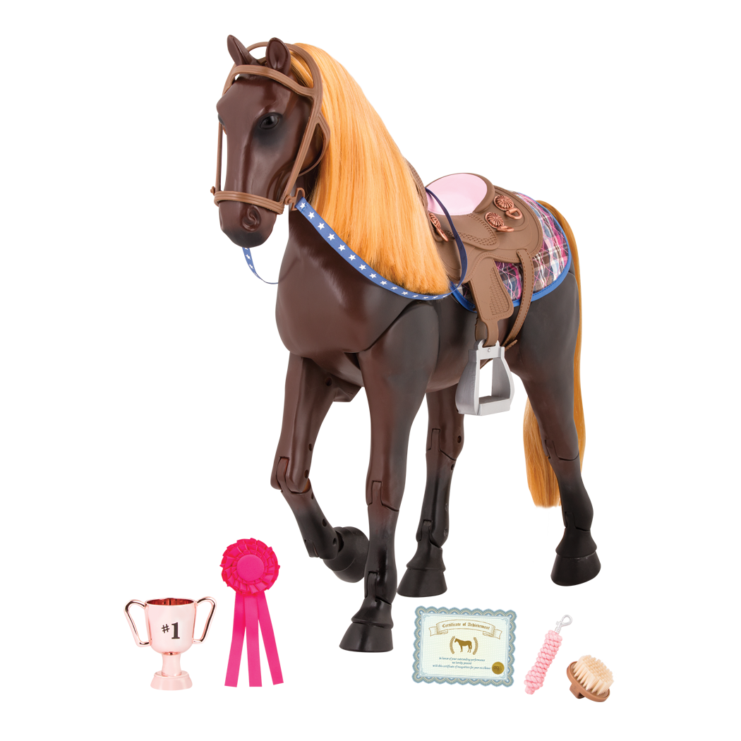 20-inch Posable Thoroughbred Horse Toy