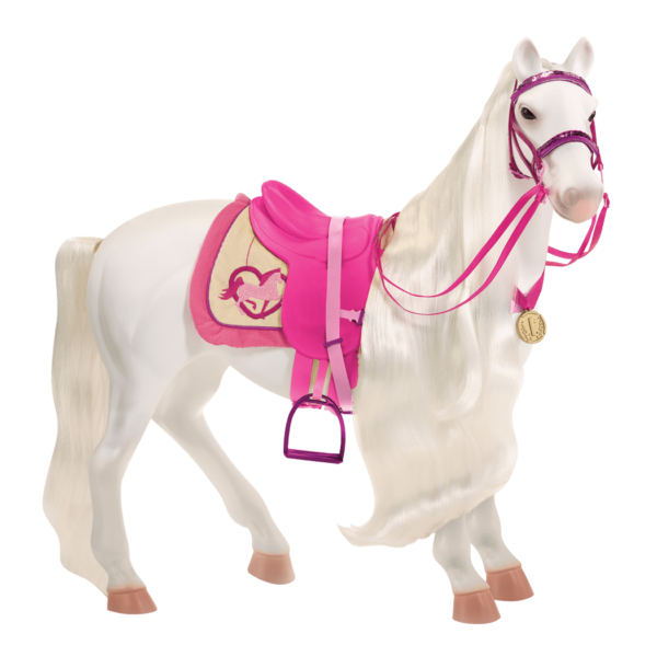 Side view of horse