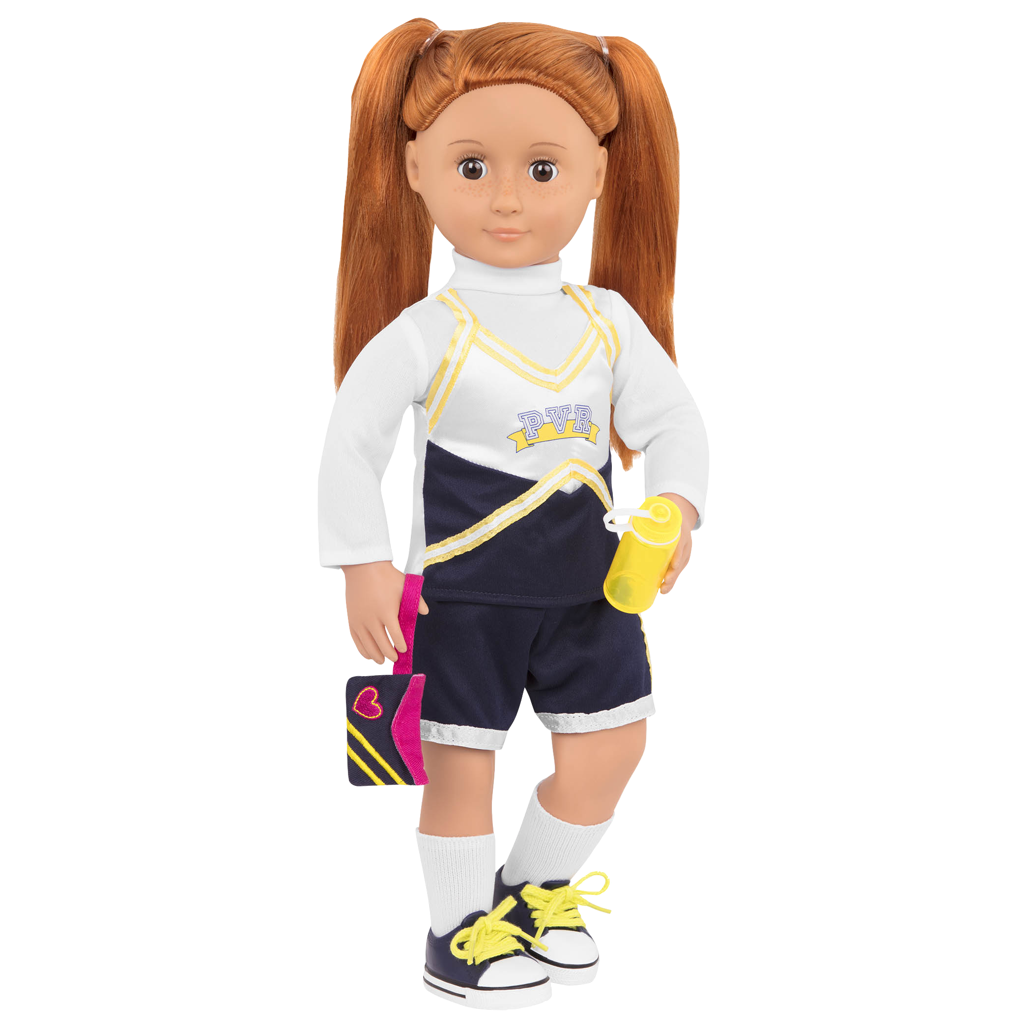 Cheerleader Camp Set Noa doll wearing uniform