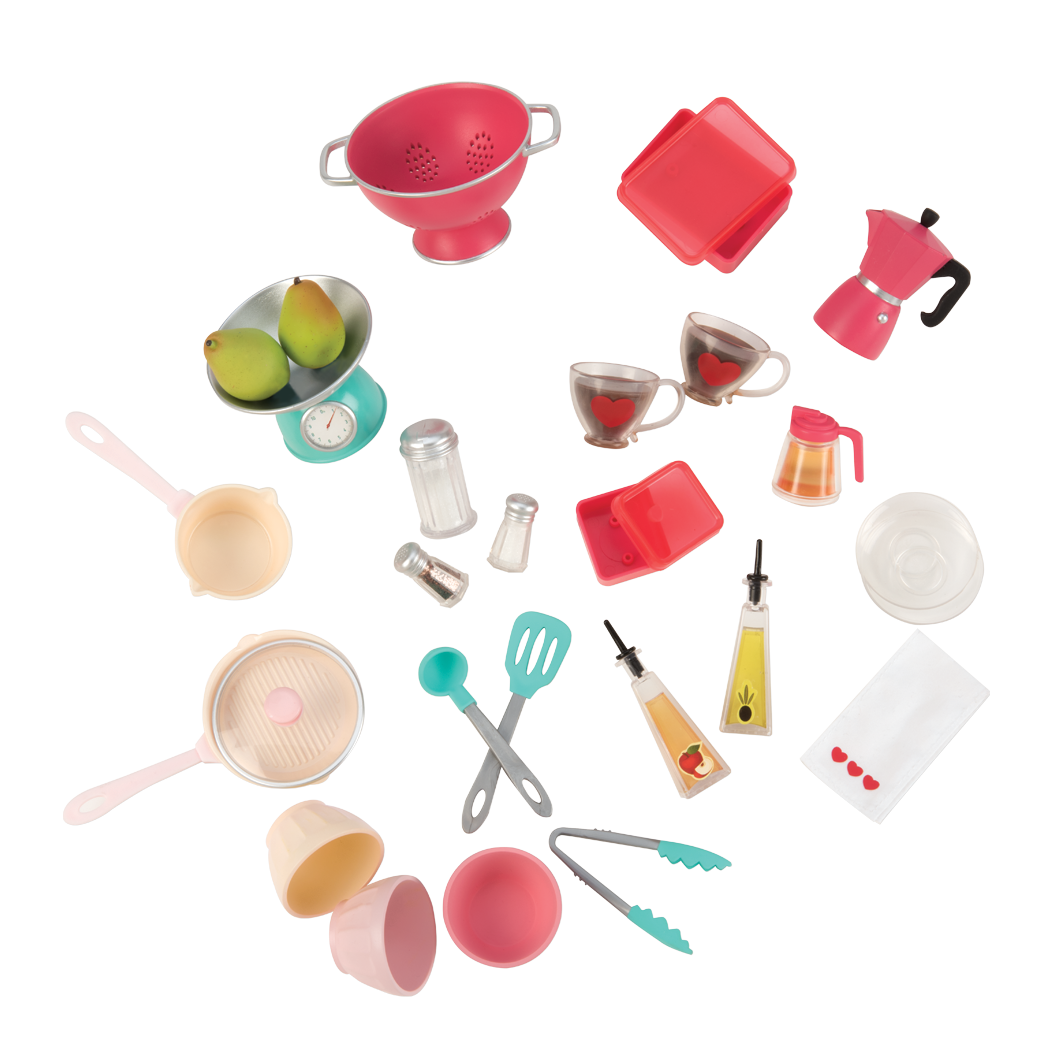 Cute As Pie Kitchen Playset all components