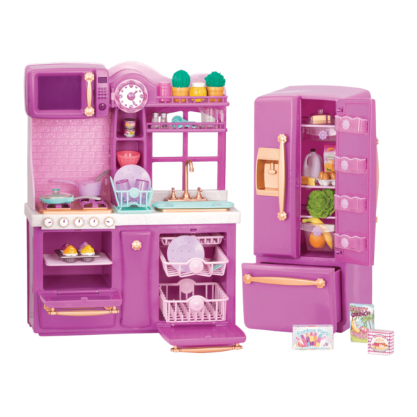 Gourmet Kitchen Set Purple all components