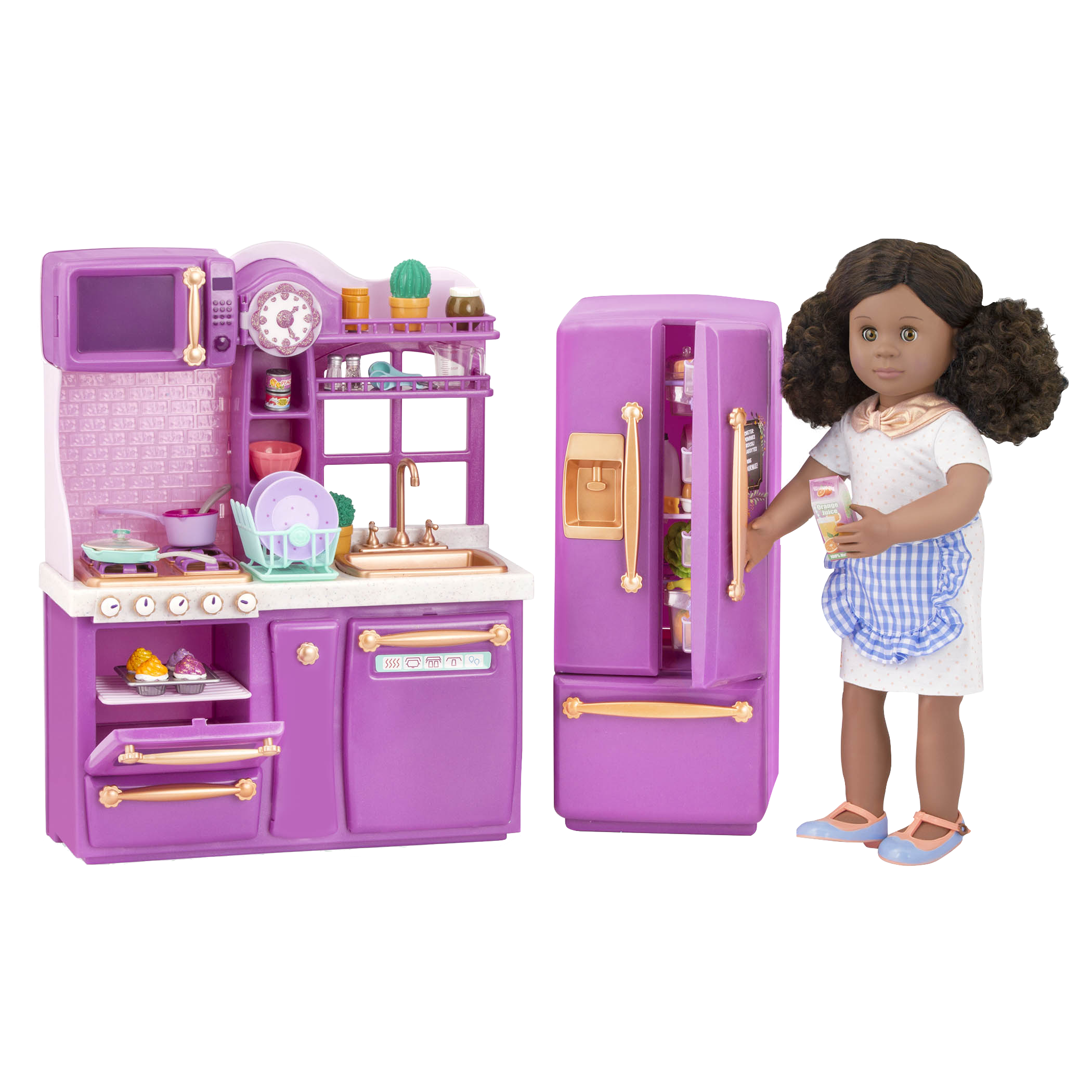 Purple Gourmet Kitchen Dollhouse Cooking Furniture Our Generation