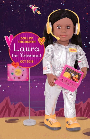 Laura the Astronaut Doll of the Month October 2018