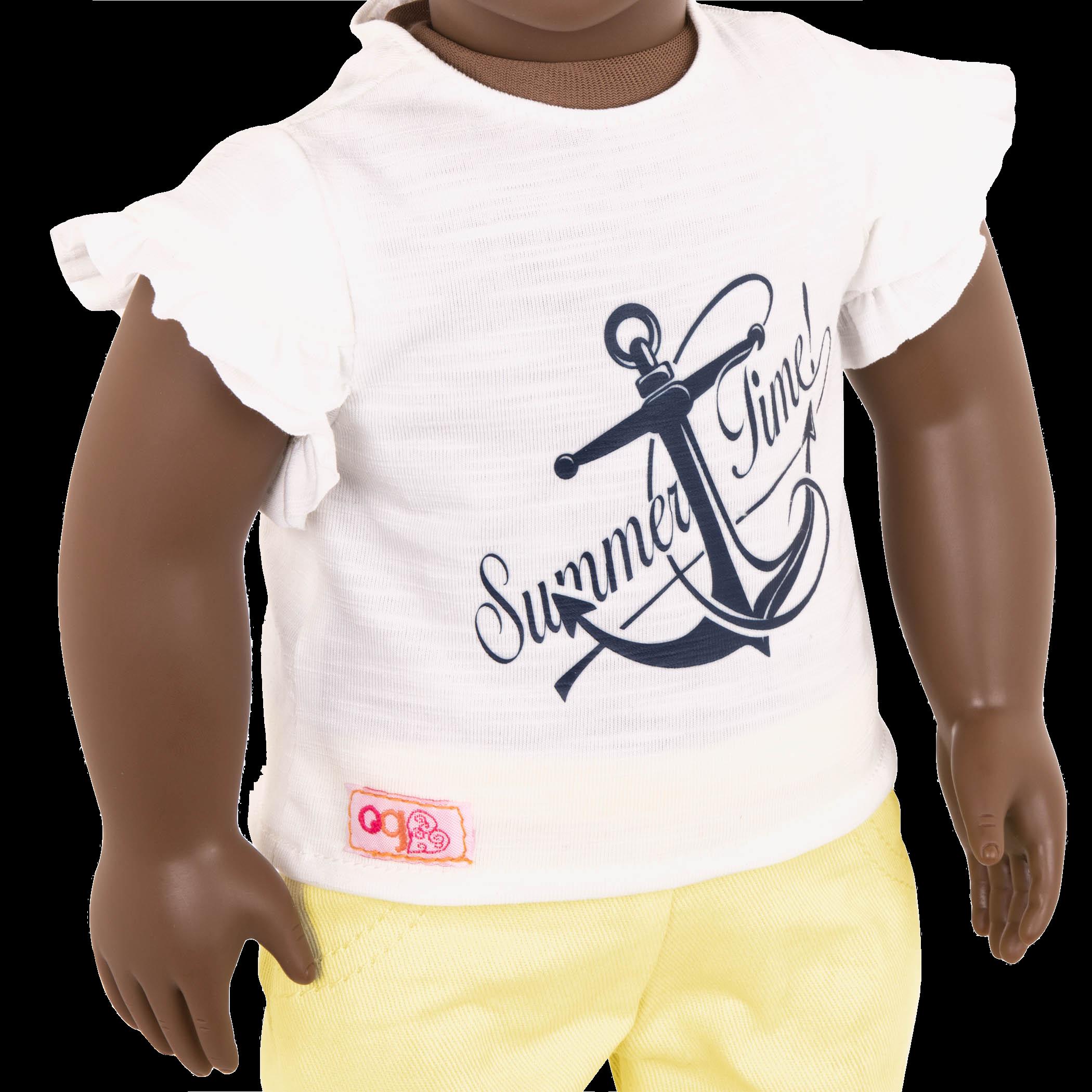 Detail of Ayeesha's T-shirt