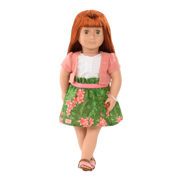 Kelly Ann 18-inch Doll in Tropical Skirt