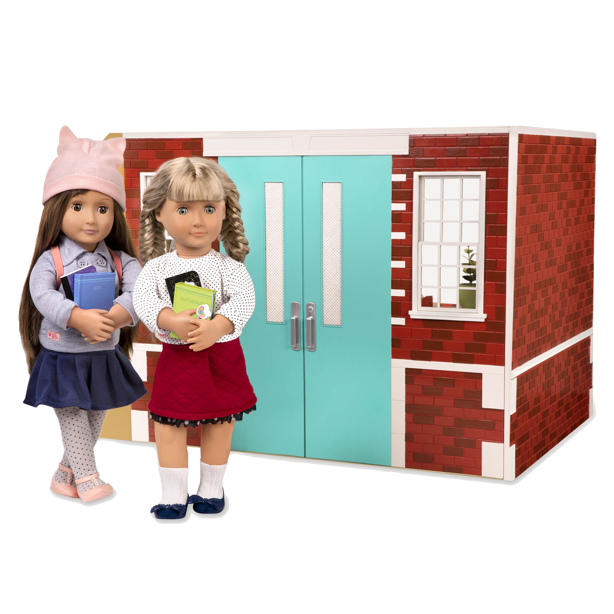 Exterior view of school playset