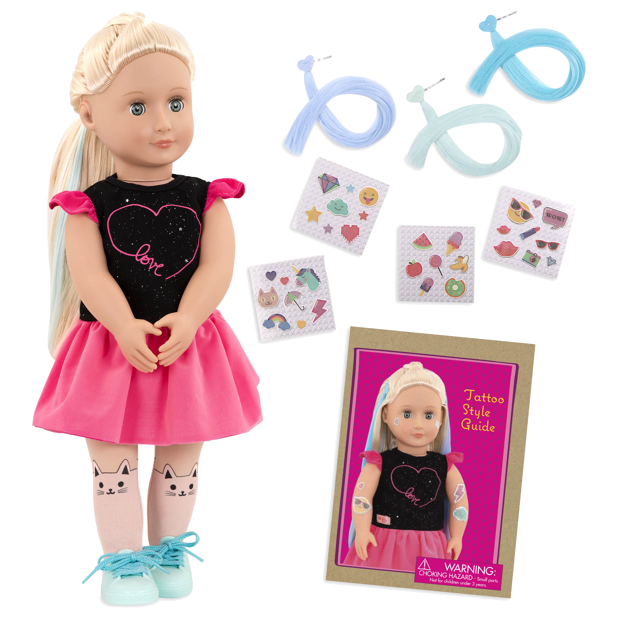 Luana 18-inch Glow in the Dark Tattoo Doll