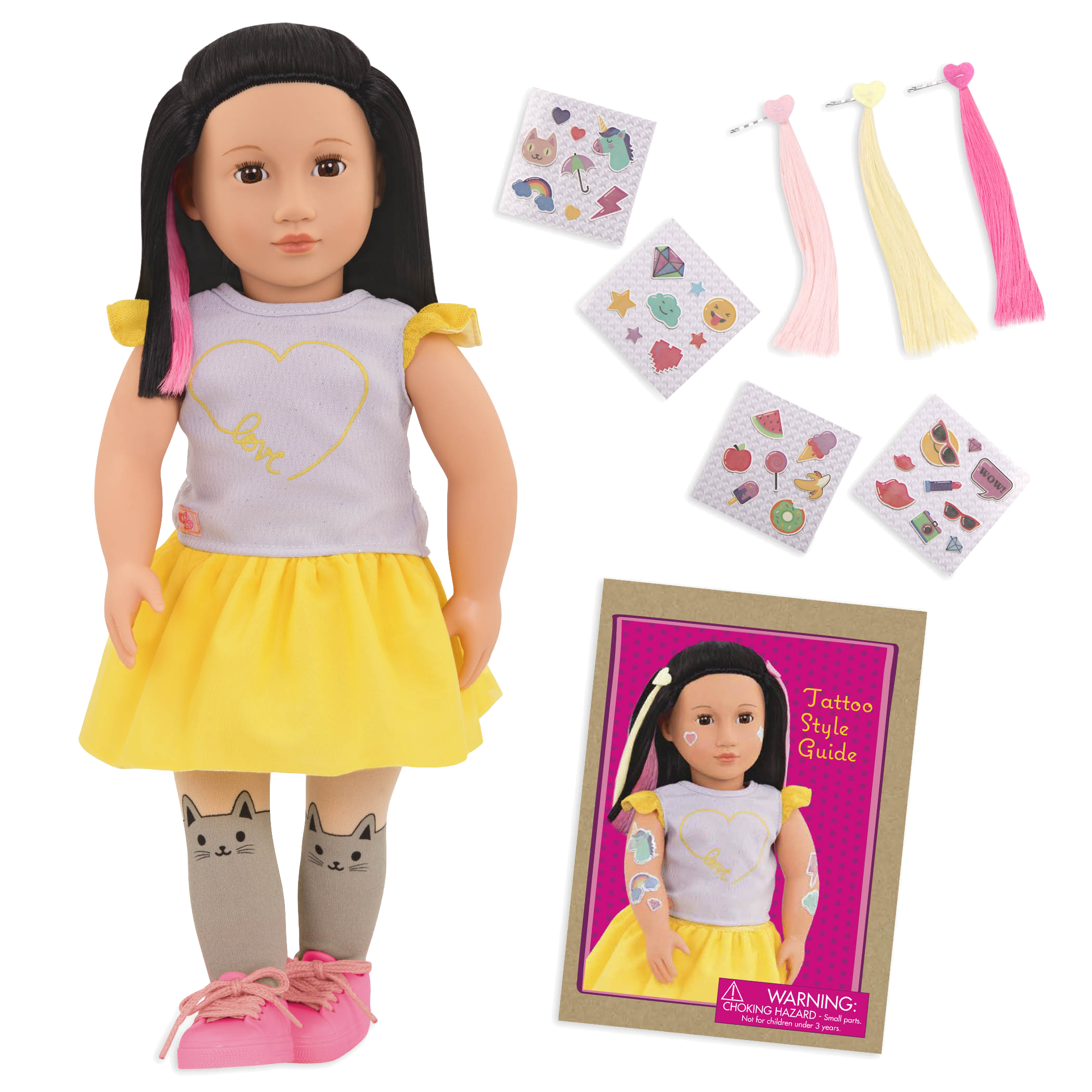 Aisha 18-inch Glow in the Dark Tattoo Doll