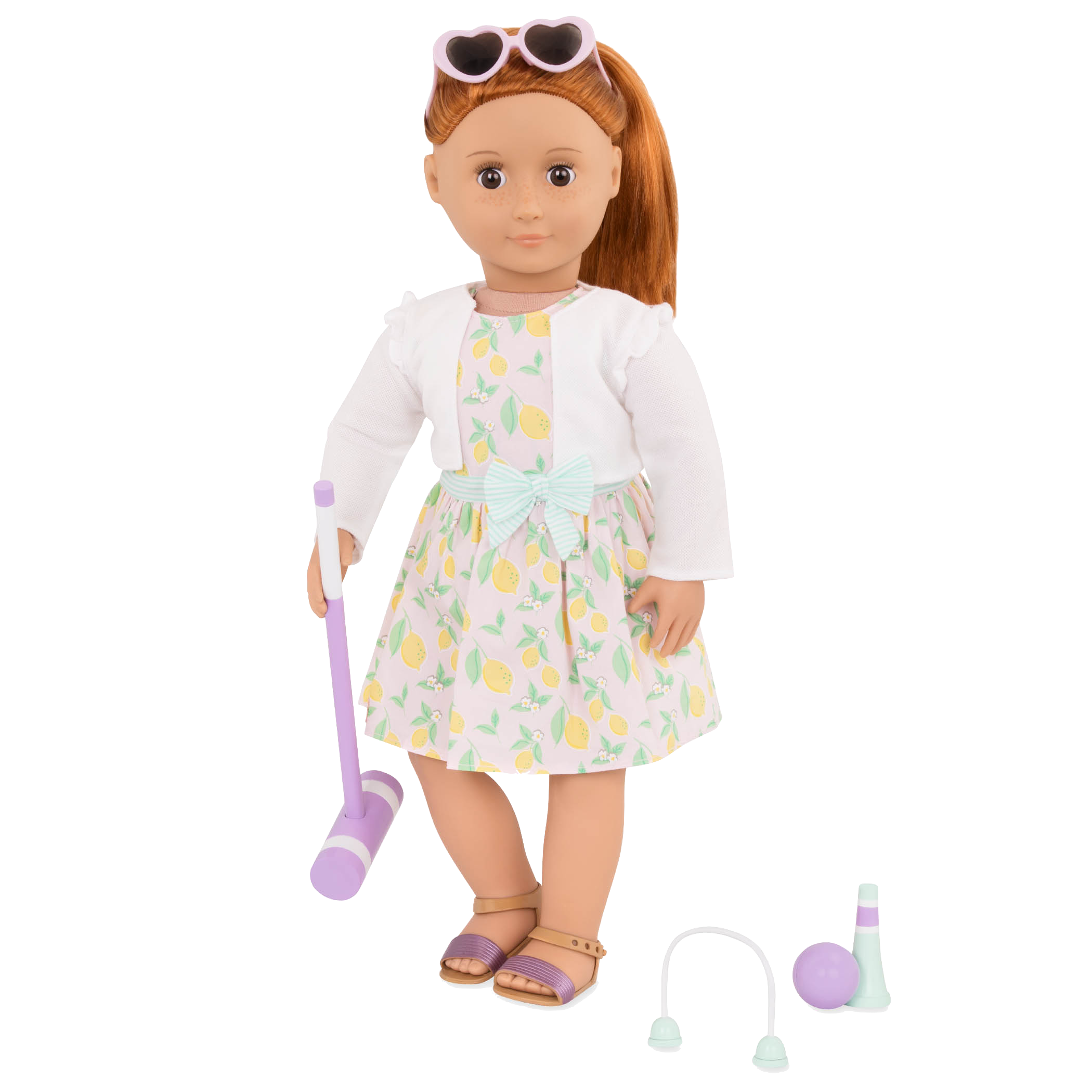 Croquet Play outfit Noa holding mallet