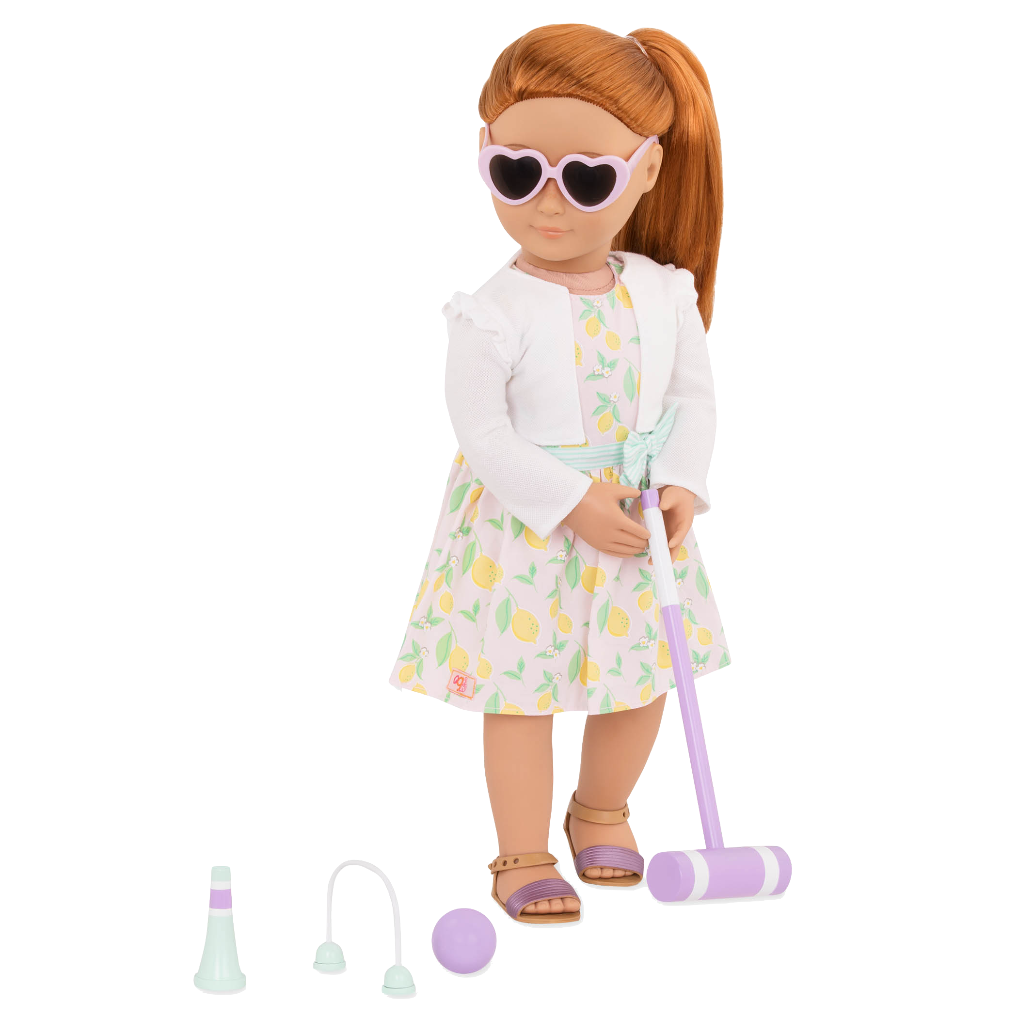 Croquet Play outfit Noa playing croquet