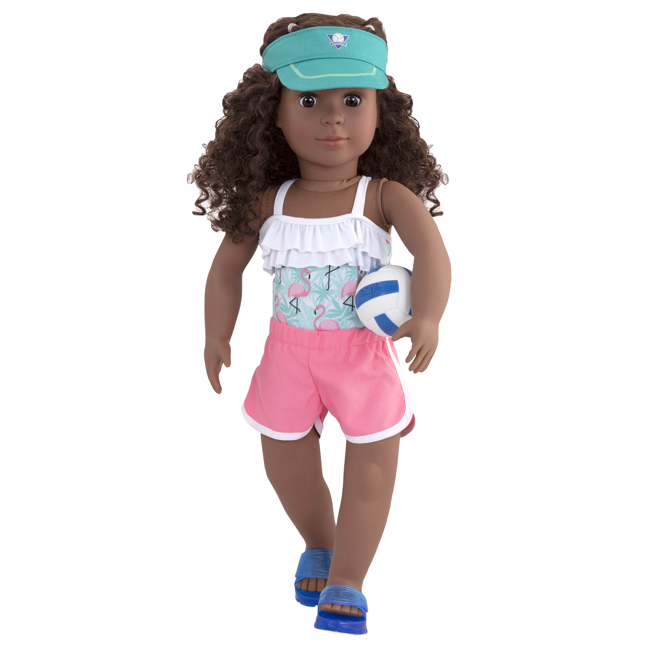 Ace Attire volleyball outfit Dedra holding ball
