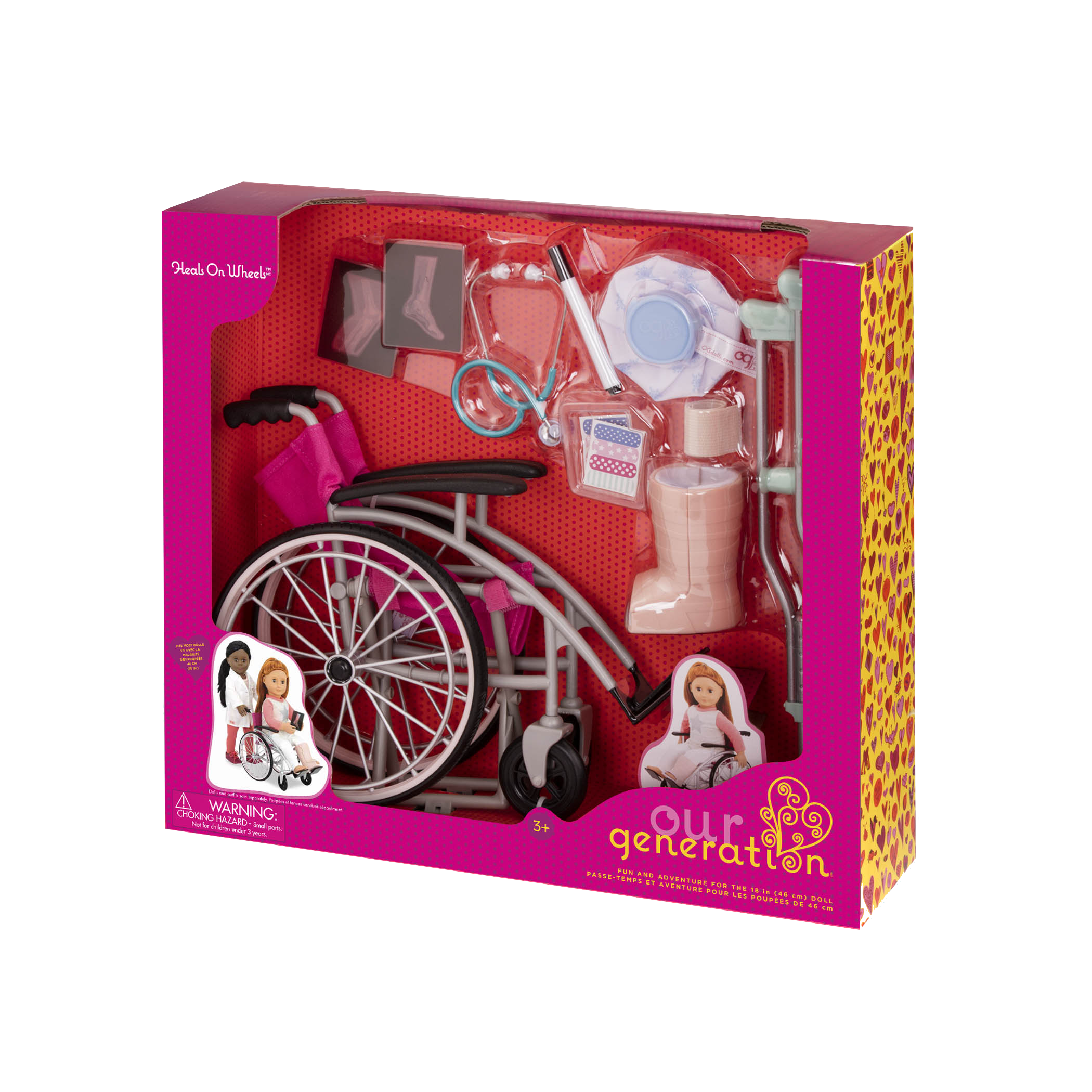 Heals on Wheels medical Accessories package