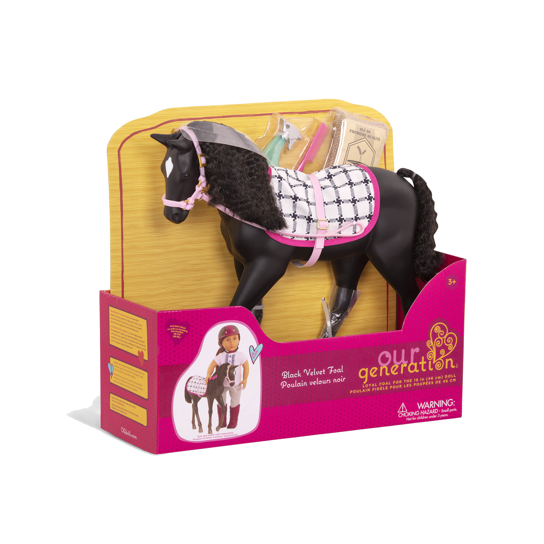 Black Velvet Foal Toy Horse For 18 Inch Dolls Our Generation