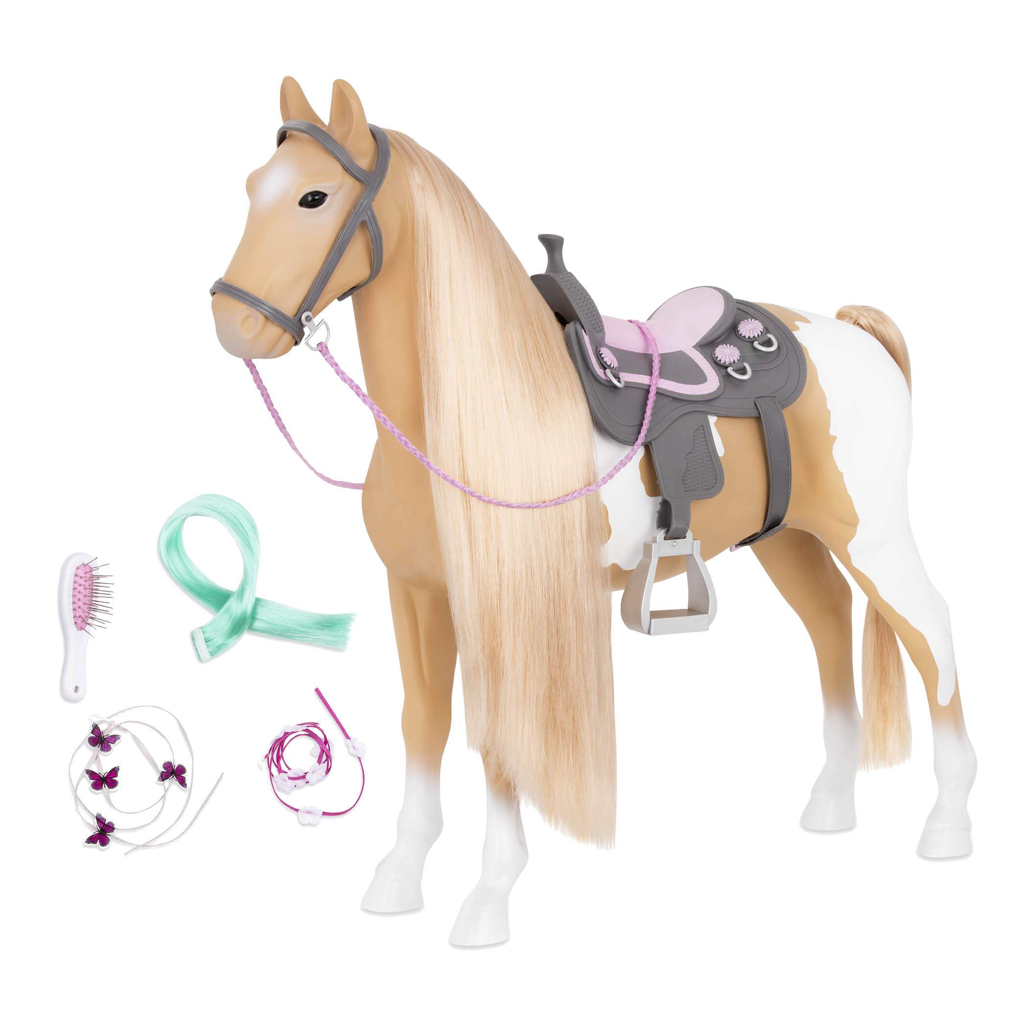 Palomino Hairplay Horse all components