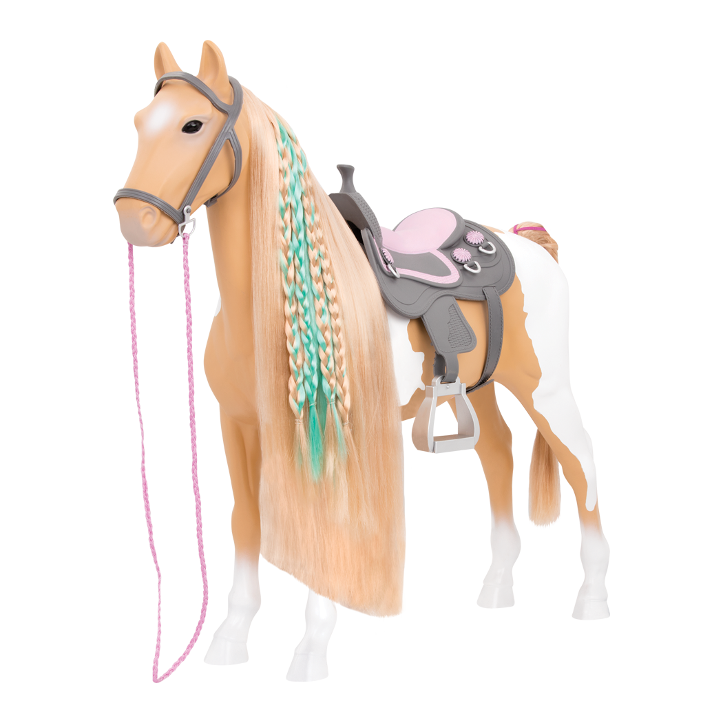 Palomino Hairplay Horse with hair extension