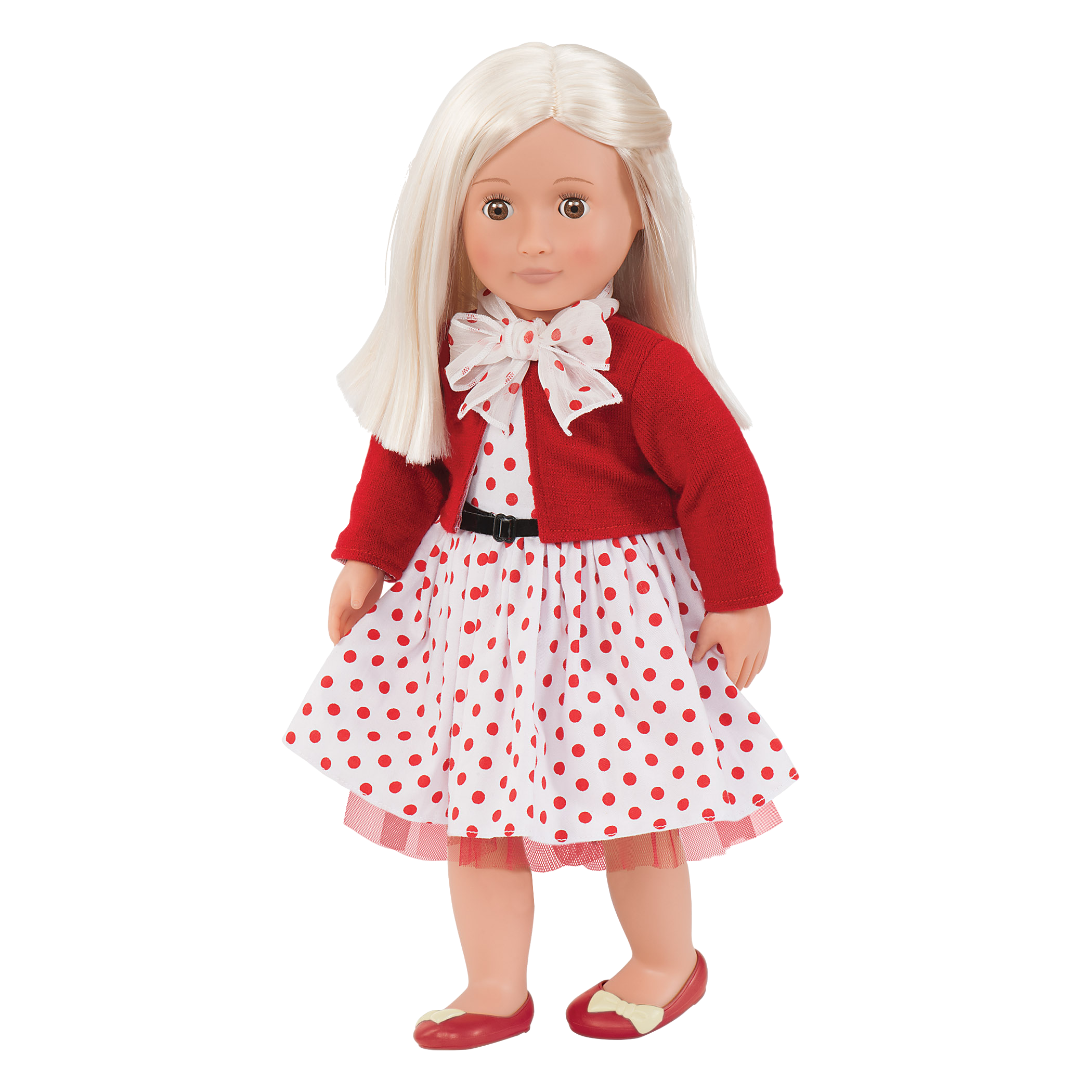 Rose Retro 18-inch Doll with Polka Dot Dress