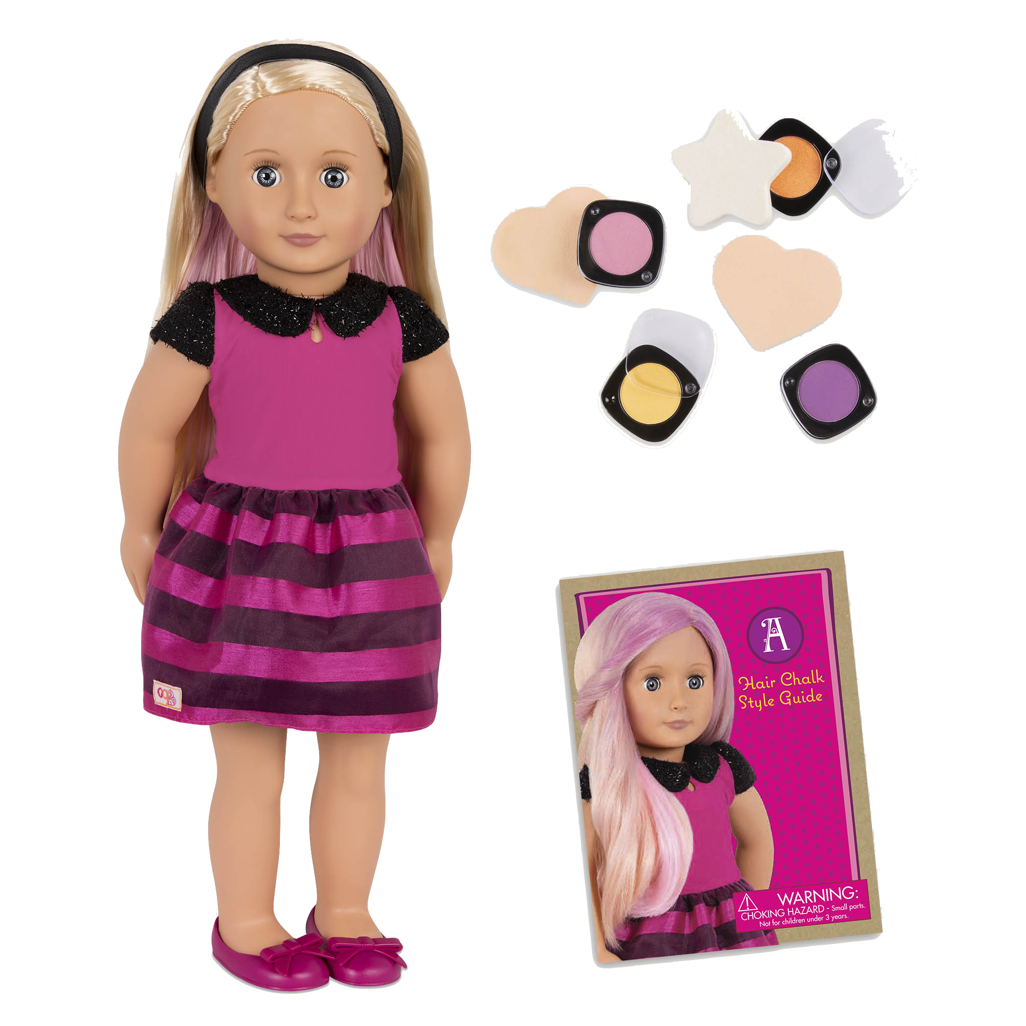 Adeline 18-inch Hair Chalk Deco Doll