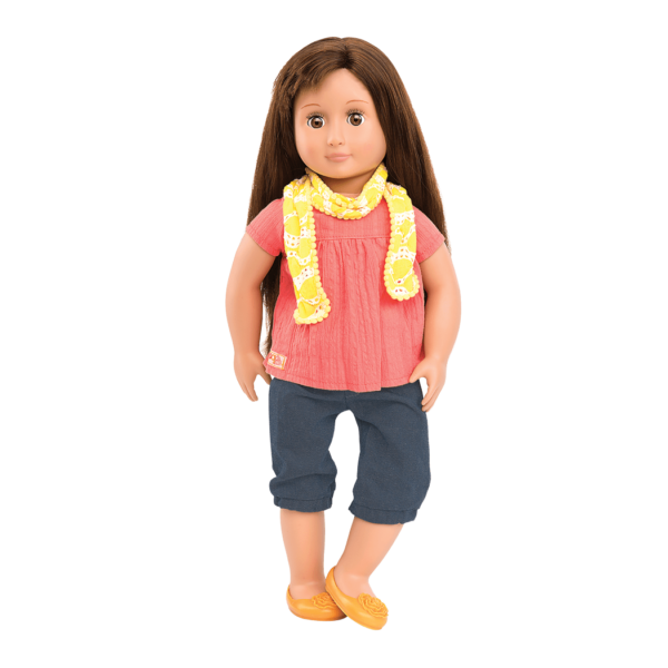 Reese doll wearing outfit
