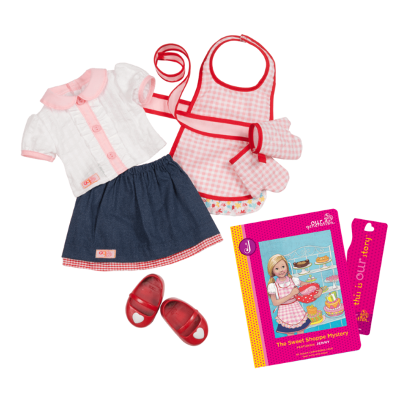 Jenny Read & Play - Outfit and Book Set for 18-inch Dolls
