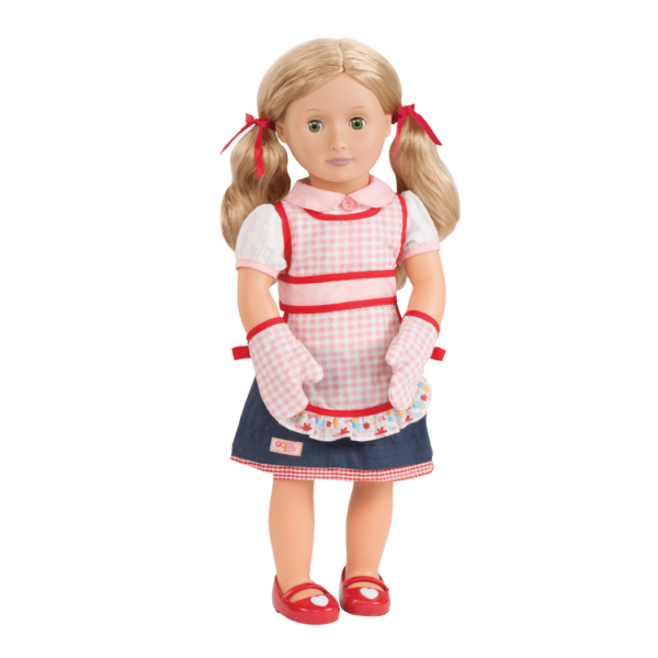 Jenny doll wearing outfit