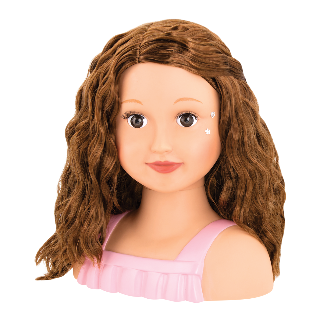 Talia with curly hair