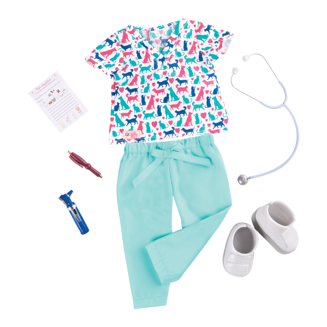 Work Dance Sleep Outfit Bundle vet uniform