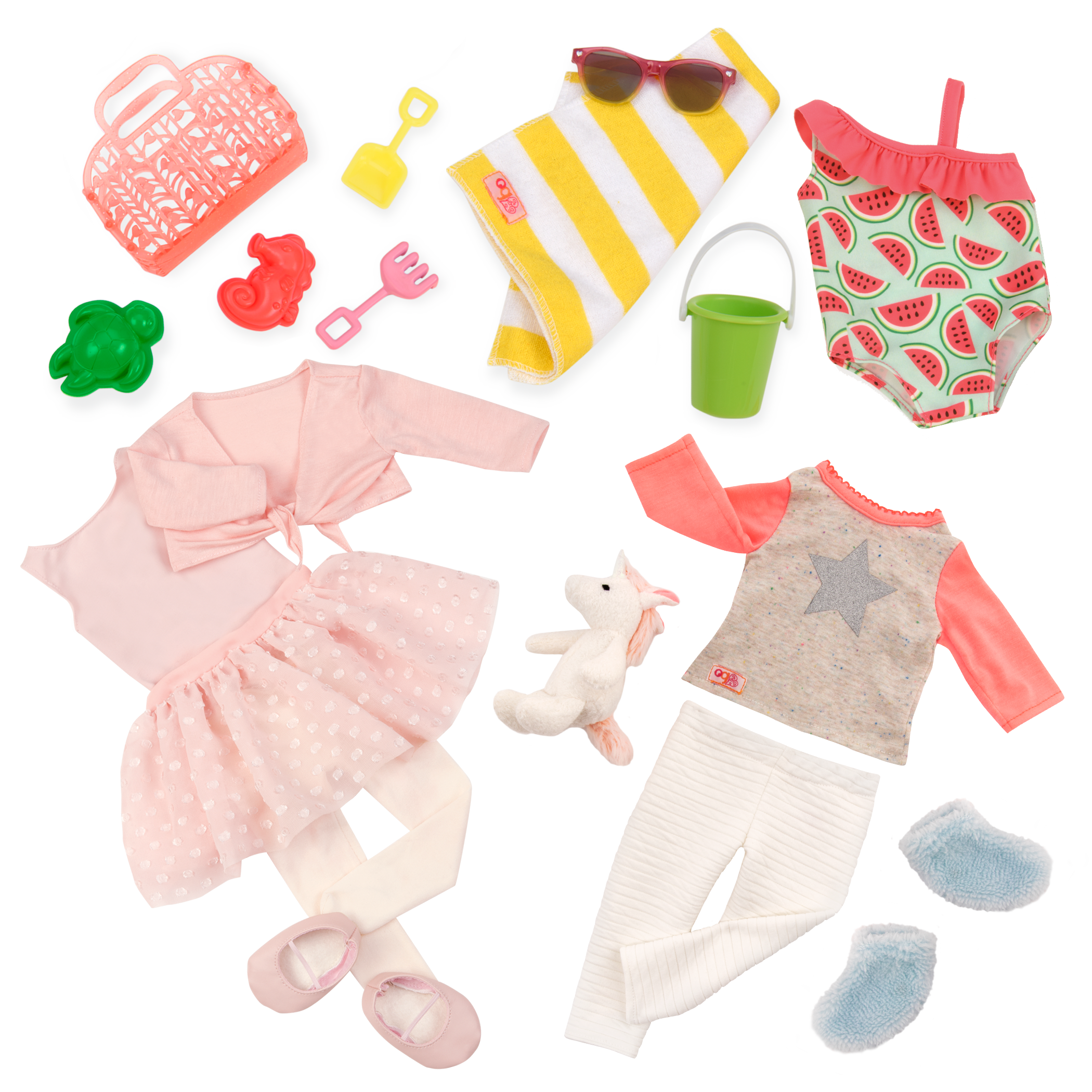 Swim Dance Dream Outfit Bundle all components