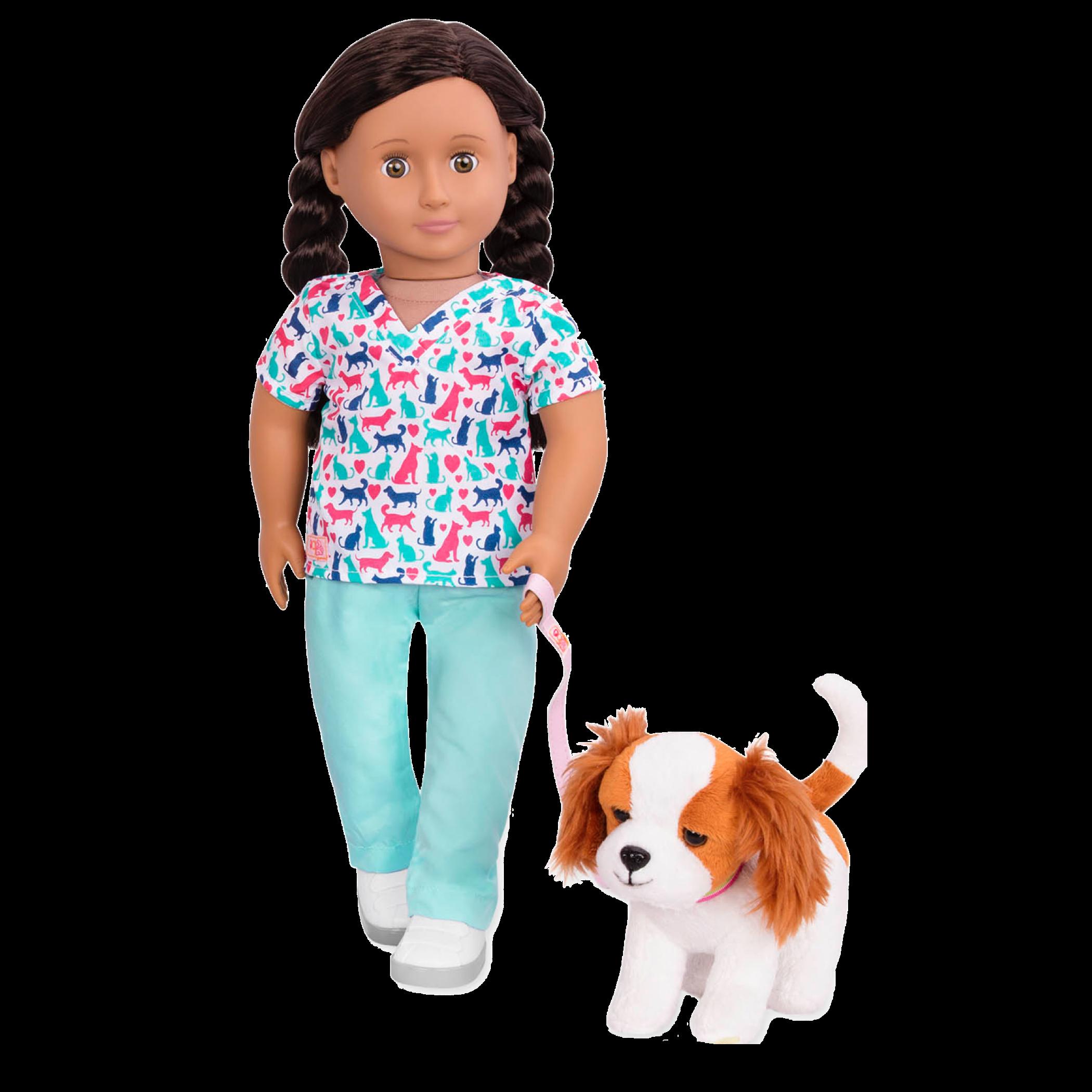 King Charles Spaniel Pup Blanca Vet walking02