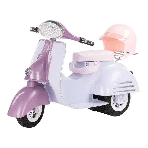 Purple and Blue Ride in Style Scooter
