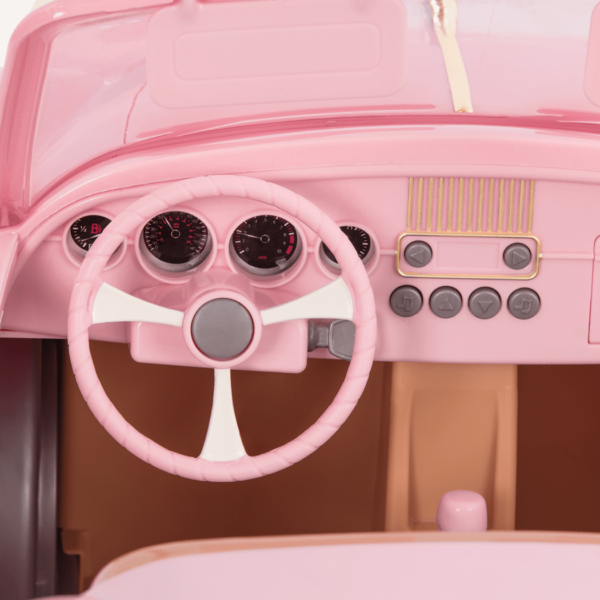 In the Drivers Seat Retro Cruiser Pink dashboard detail03