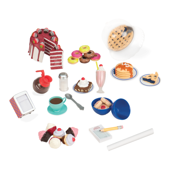 Our Generation Retro NEW TODAY/'S SPECIAL American Diner Food Accessories Set