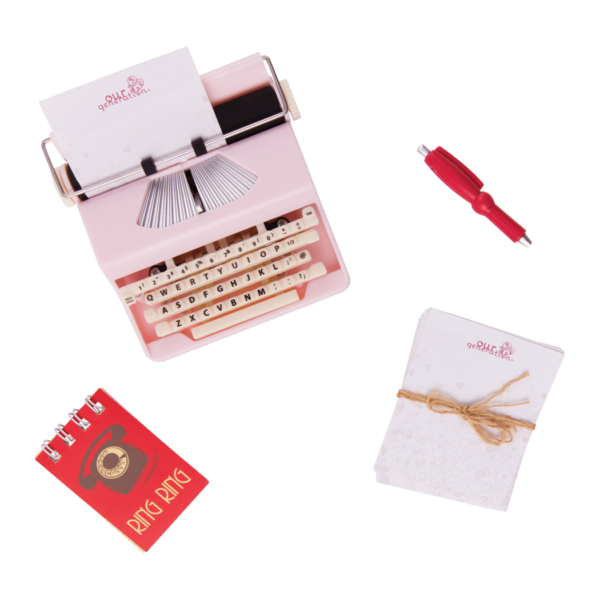 Take a Letter Retro Typewriter for 18-inch Dolls