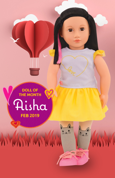 Aisha doll of the month March 2019