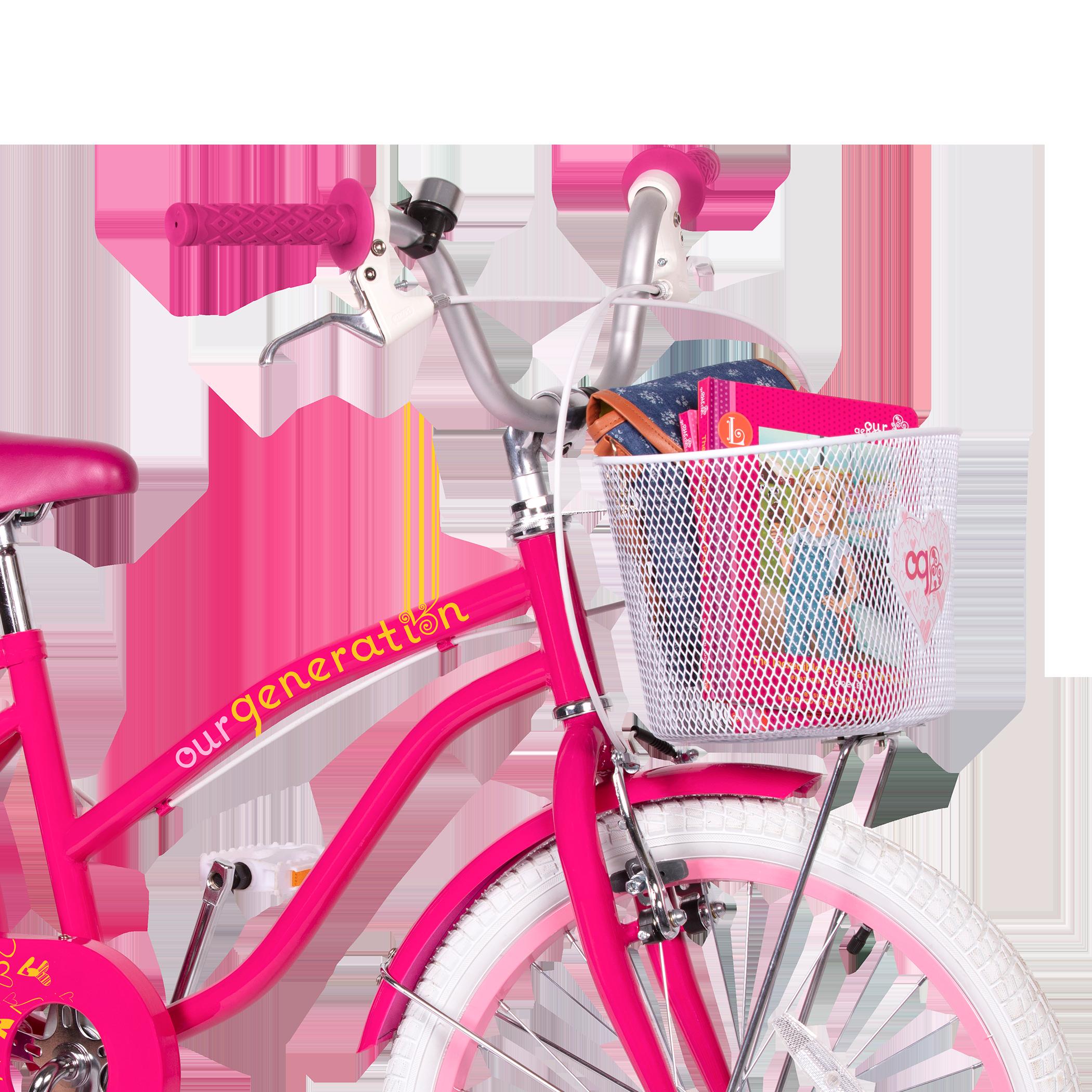 OG Bicycle for kids front basket holding books02